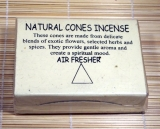 Natural Cones Incense - Vanilla