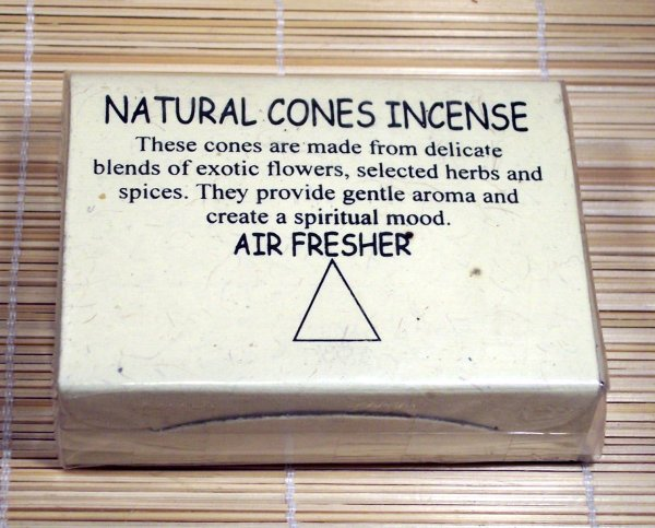 Natural Cones Incense - Rose